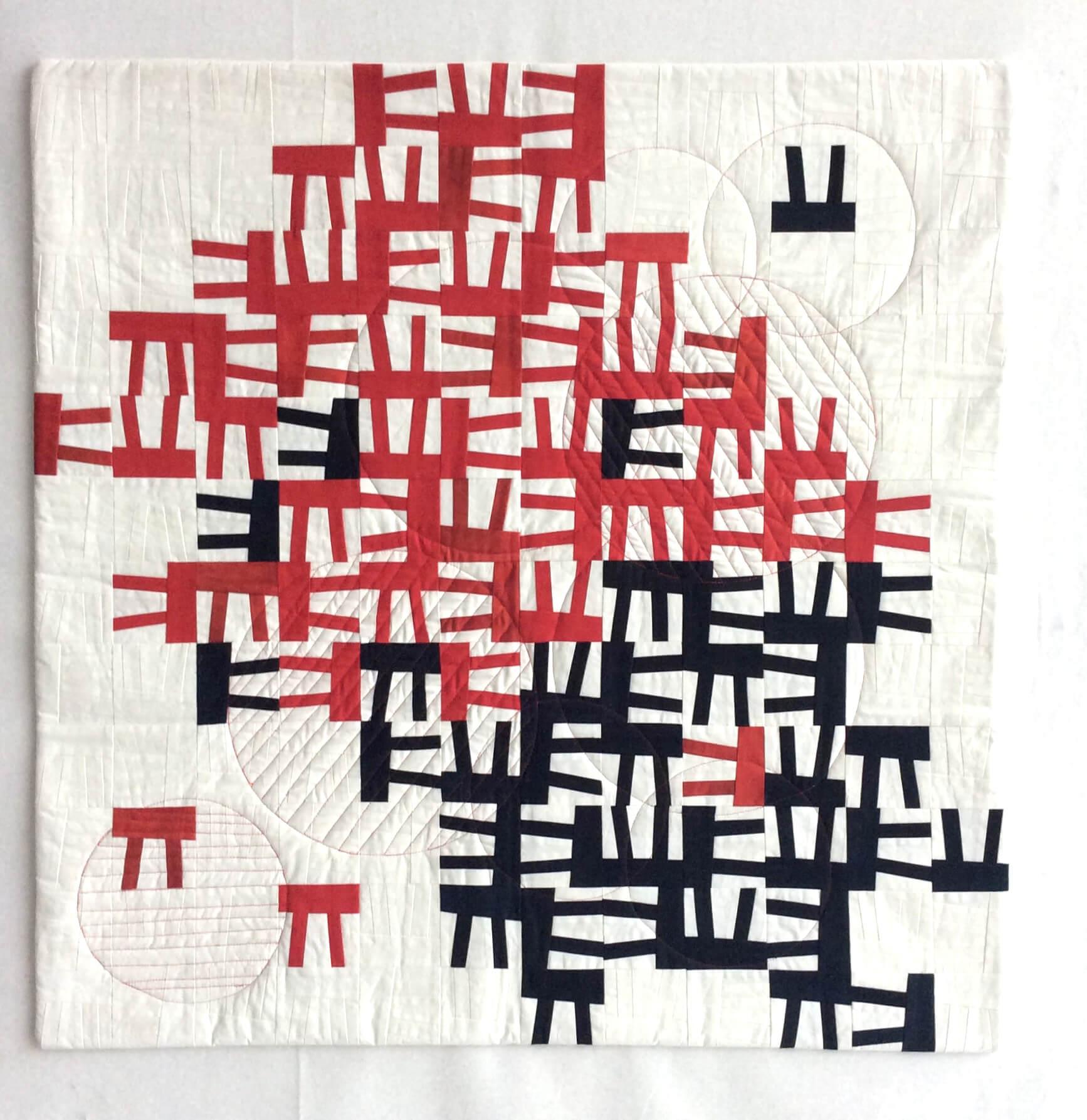 2012 | Kleines rot-schwarz, 85x85